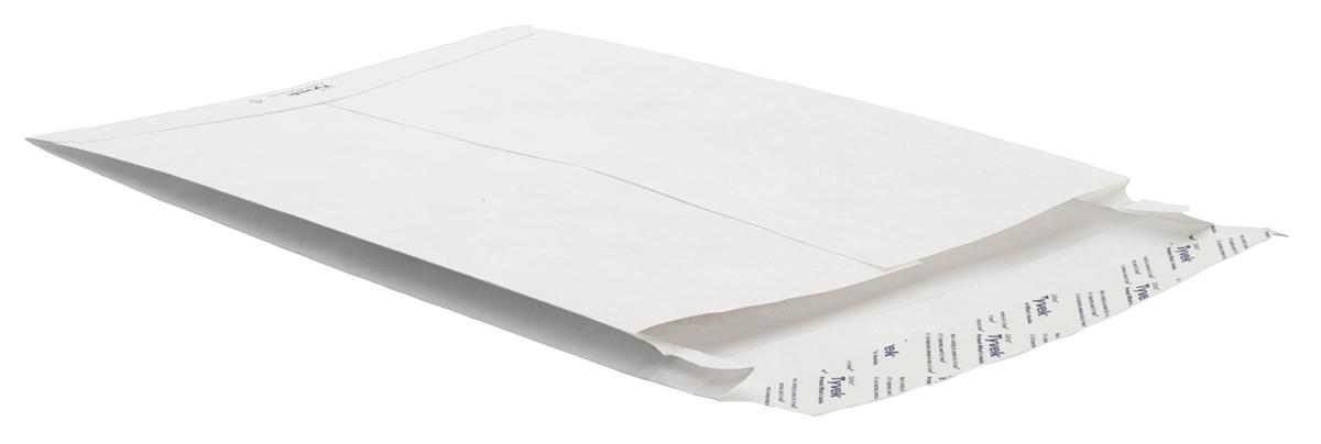 Image for Tyvek Gusseted Envelopes Extra Capacity Strong H343xW250xD20mm White Ref 67480 [Pack 100]