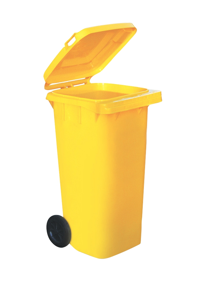 Image for Wheelie Bin High Density Polythene with Rear Wheels 120 Litre Yellow