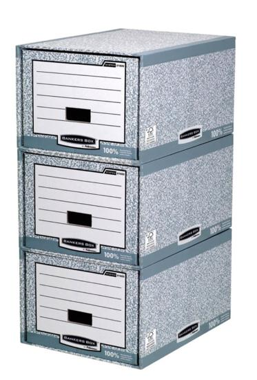 Image for Bankers Box by Fellowes System Storage Drawer Stackable Grey/White Ref 01820 [Pack 5]