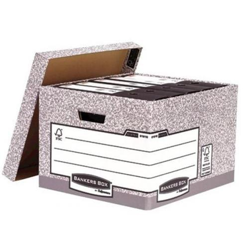 Image for Bankers Box by Fellowes System Large Storage Box W380xD430xH287mm Ref 01810-FF [Pack 10]