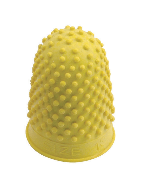 Quality Thimblette Rubber for Note-counting Page-turning Size 2 Large Yellow Ref 265494 [Pack 10]
