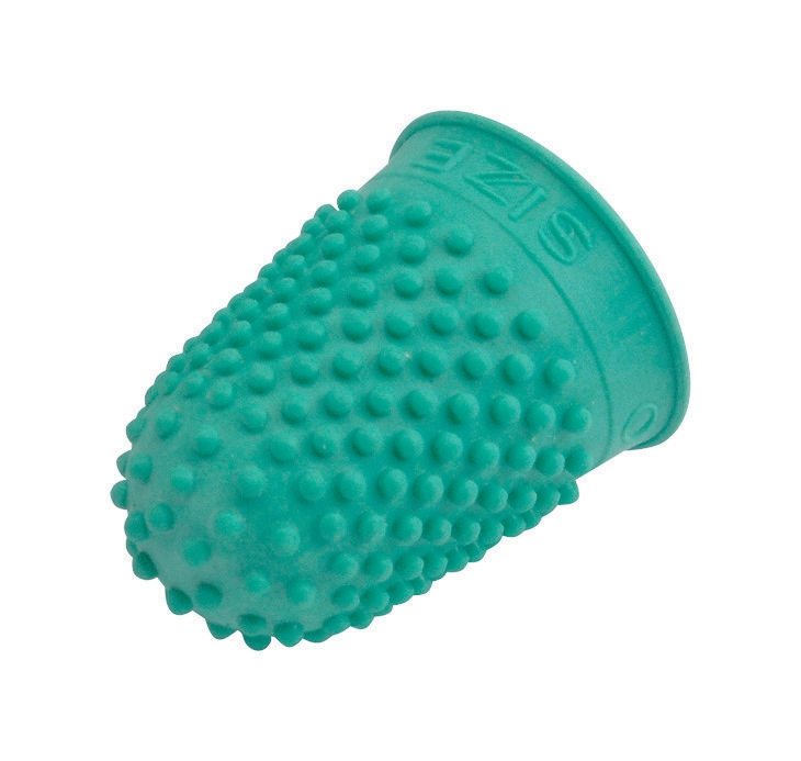 Image for Quality Thimblette Rubber for Note-counting Page-turning Size 0 Small Green Ref 265478 [Pack 10]