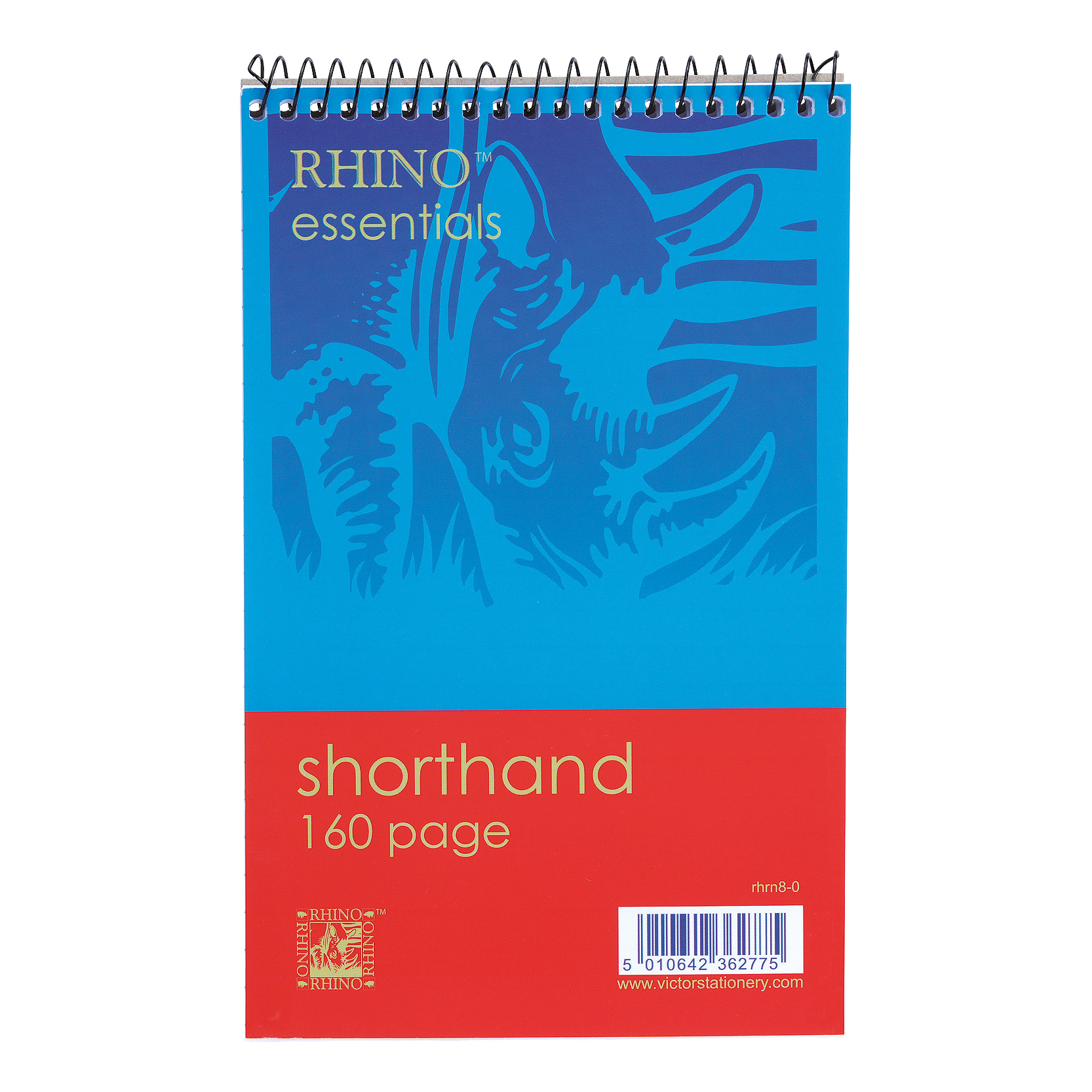 5 Star Value Shorthand Pad Wirebound 60gsm Ruled 160pp 127x200mm Blue/Red [Pack 10]