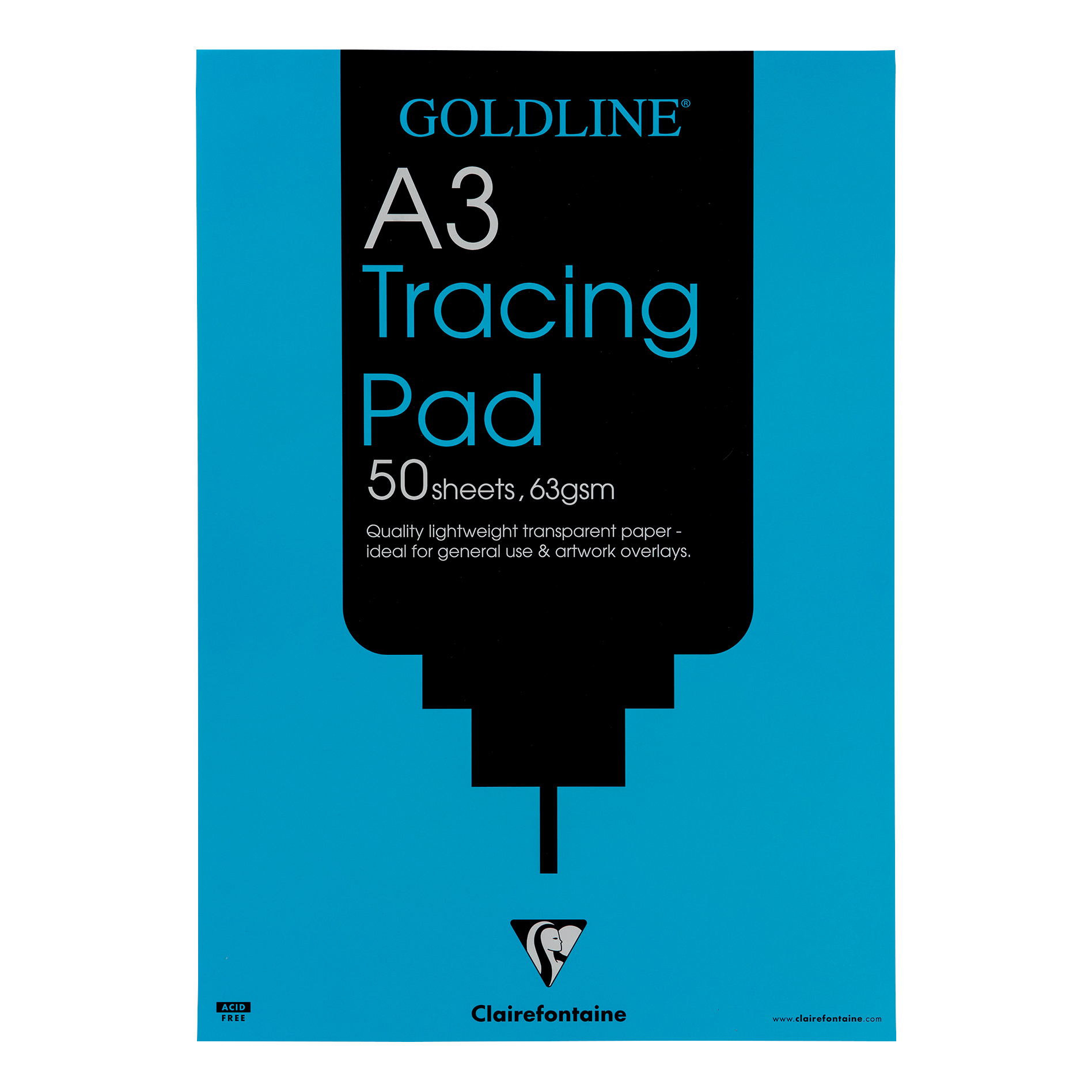 Goldline Popular Tracing Pad 63gsm Acid-free Paper 50 Sheets A3 Ref GPT2A3Z Pack 5