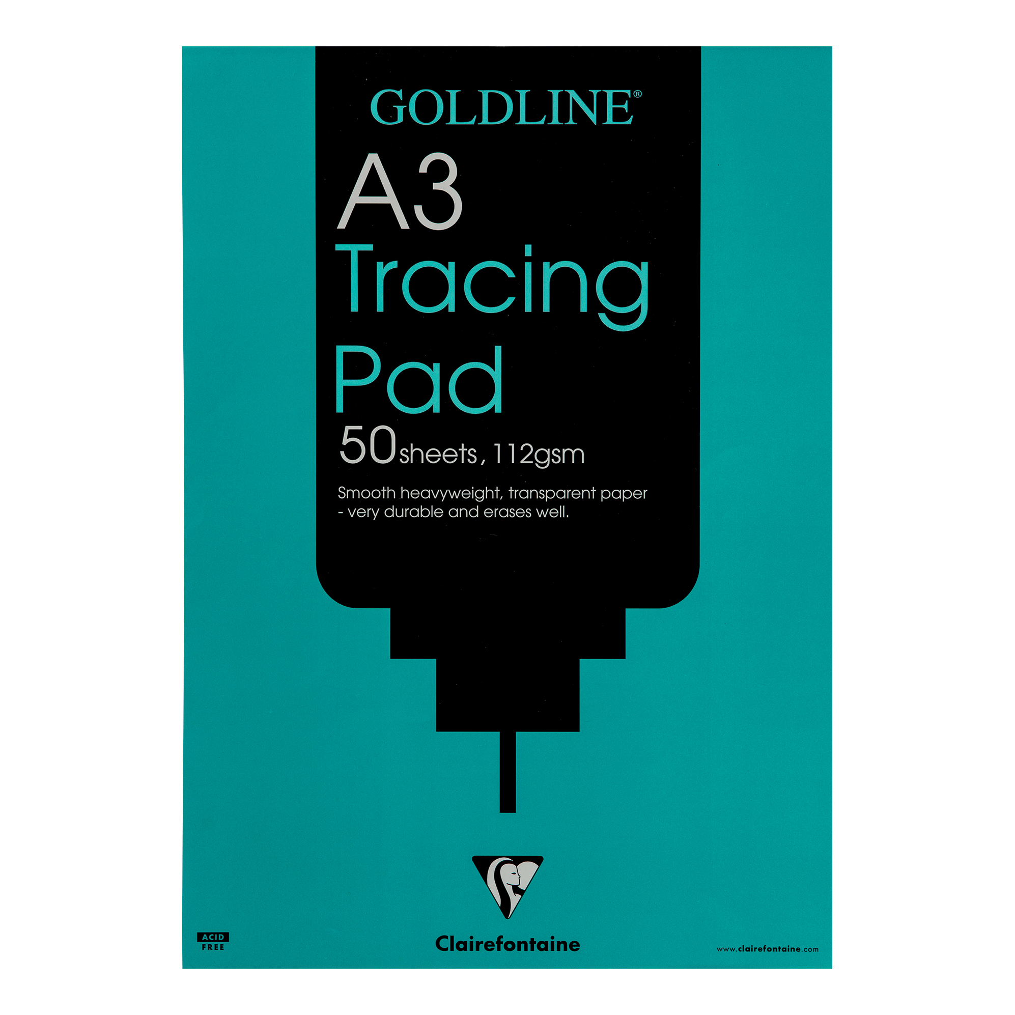 Goldline Heavyweight Tracing Pad 112gsm Acid-free Paper 50 Sheets A3 Ref GPT3A3Z [Pack 5]