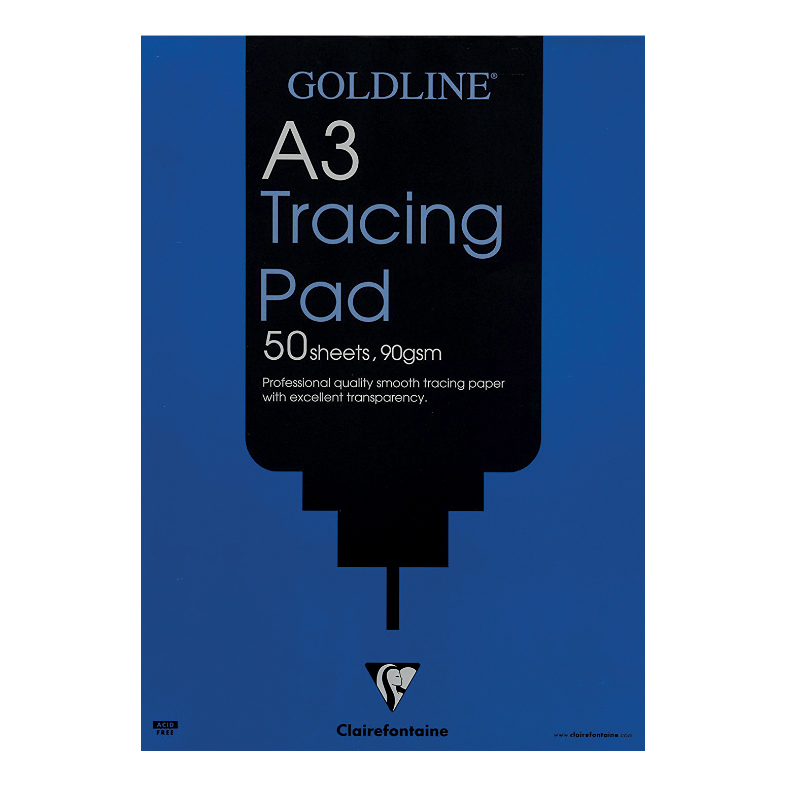 Image for Goldline Professional Tracing Pad 90gsm Acid-free Paper 50 Sheets A3 Ref GPT1A3Z [Pack 5]