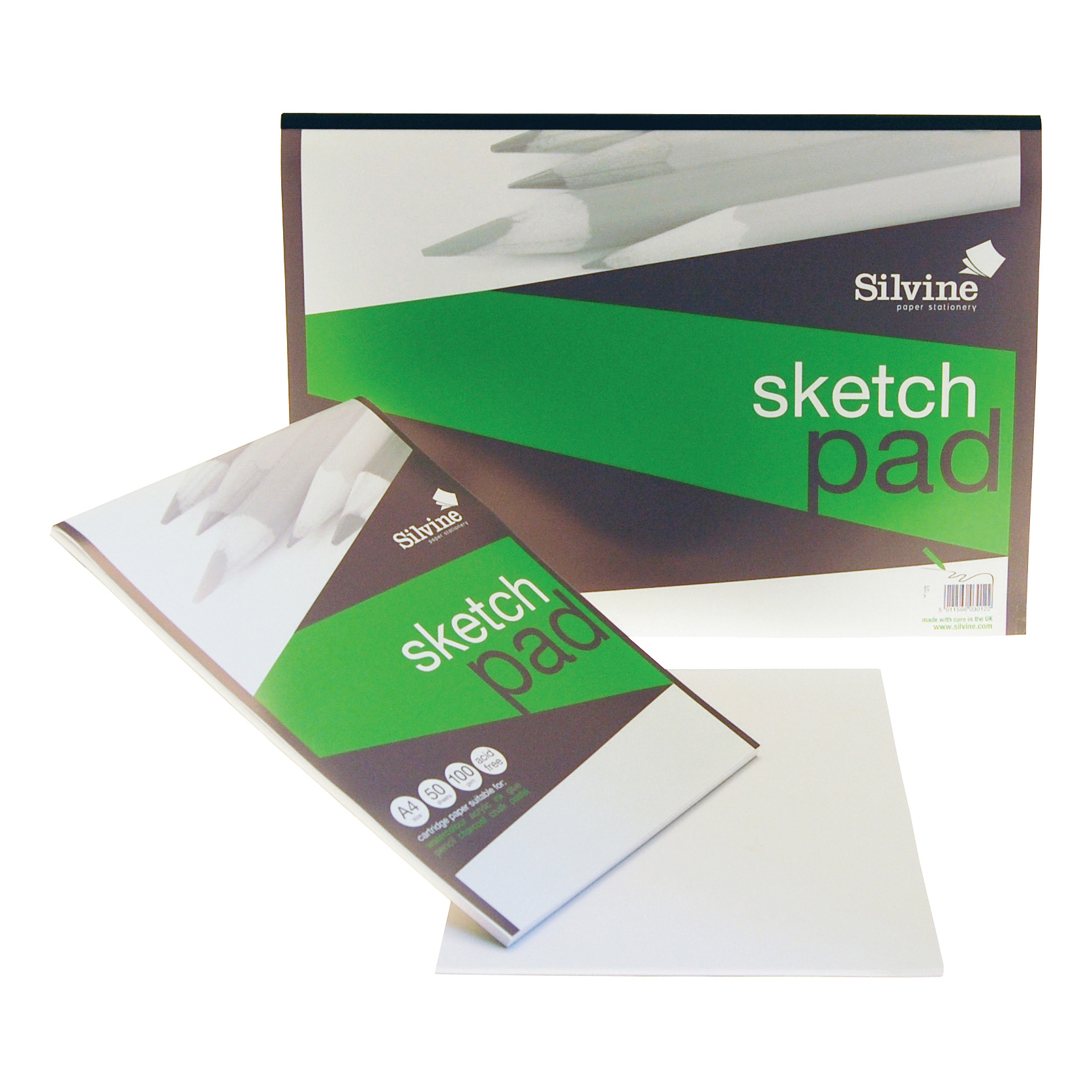 Silvine Popular Drawing Pad Acid Free Cartridge Paper 100gsm 50 Sheets A3