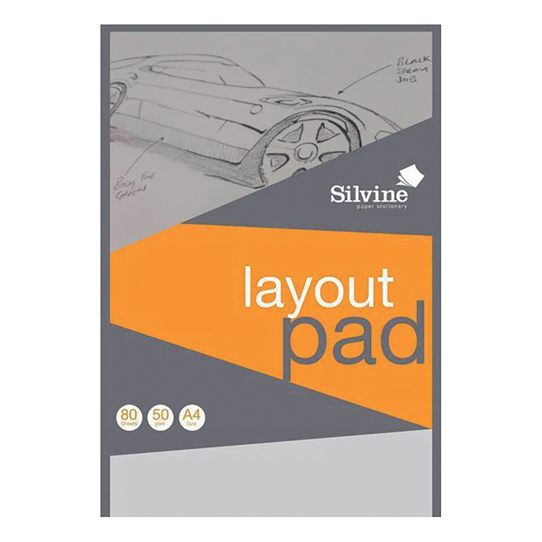 Silvine Layout Pad Bank Paper Acid Free 50gsm 80 Sheets A4 COMPETITION
