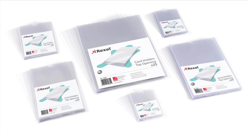 Rexel Card Holder Nyrex Open on Short Edge 203x127mm Ref 12050 [Pack 25]