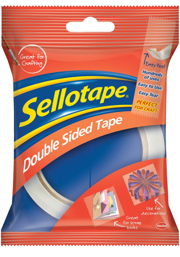 Sellotape Double Sided Tape 25mm x 33m Ref 1447052 [Pack 6]