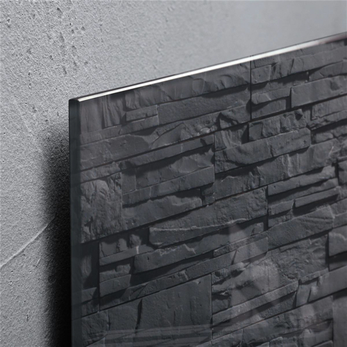 Sigel Artverum High Quality Tempered Glass Magnetic Board With Fixings 480x480mm Slate Ref GL169