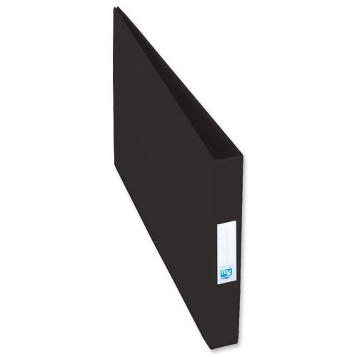 Elba Vision Ring Binder PVC Clear Front Pocket 4 O-Ring A3 Landscape Black Ref 100082459 [Pack 2]