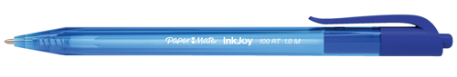 Paper Mate Inkjoy 100 Retractable Ballpoint Pen Medium 1.0mm Tip Blue Ref S0957040 [Pack 20]