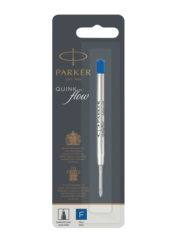 Parker Quink Ballpoint Pen Refill Cartridge Fine Nib Blue Ink Ref 1950368 [Packed 12]