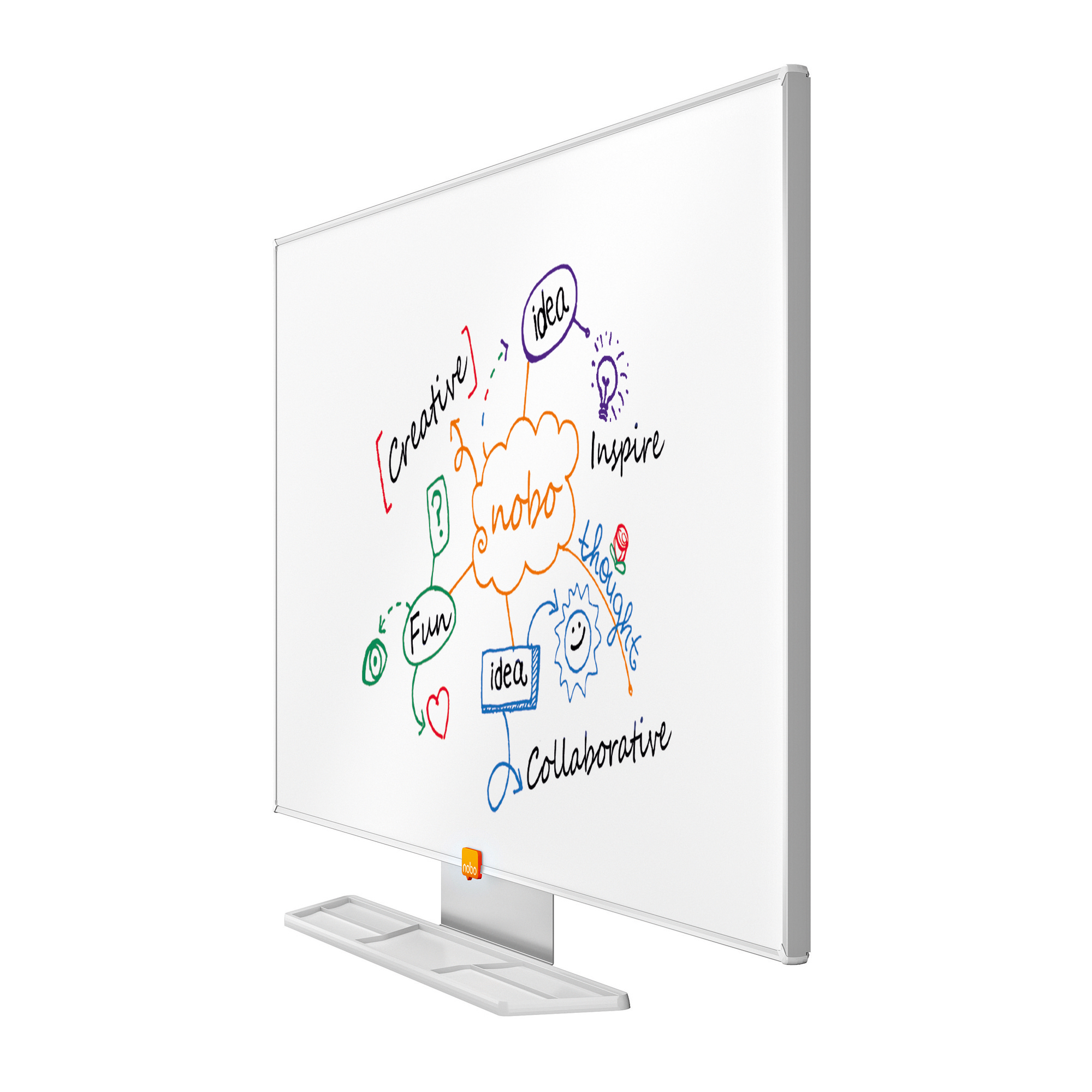 Nobo Whiteboard Widescreen 40 Inch Nano Clean Magnetic W898xH510 White Ref 1905297