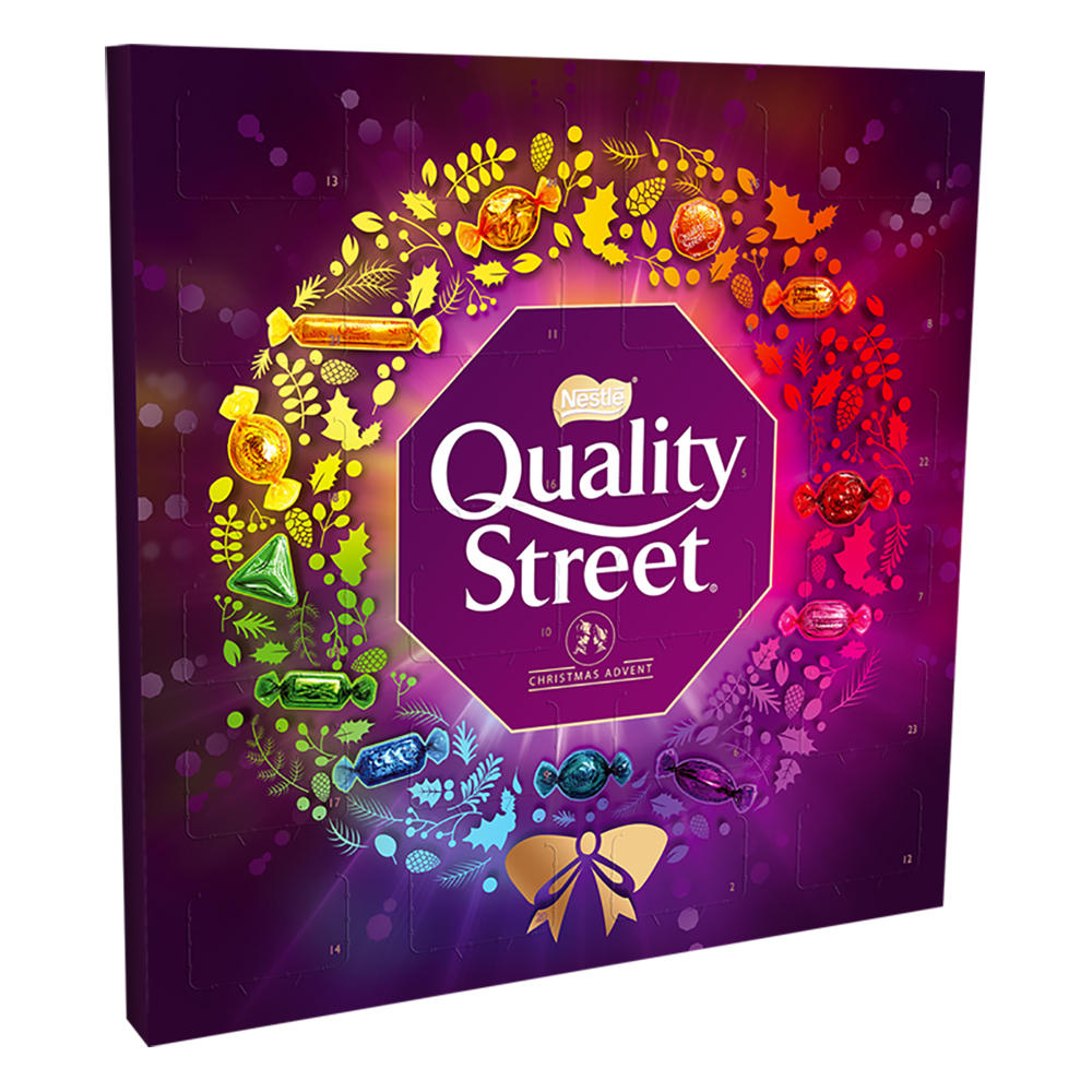 Chocolate or chocolate substitute candy Nestle Quality Street Advent Calendar Ref 12403615