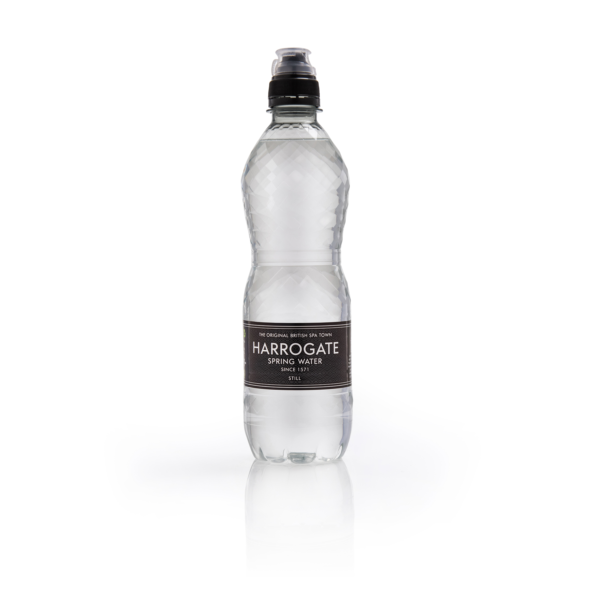 Harrogate Still Water Sport Cap Plastic Bottle 500ml Ref P500243SC Pack 24