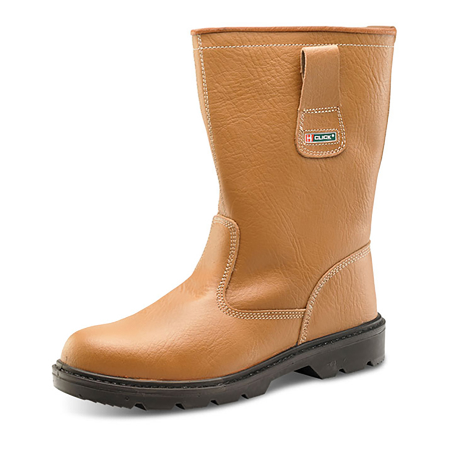 Footwear Rigger Boot Plus Leather with Rubber Toecap Size 12 Tan *Approx 3 Day Leadtime*