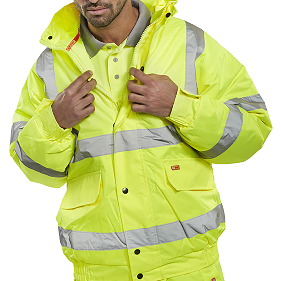 BSeen High Visibility Constructor Jacket Medium Saturn Yellow Ref CTJENGSYM Approx 3 Day Leadtime