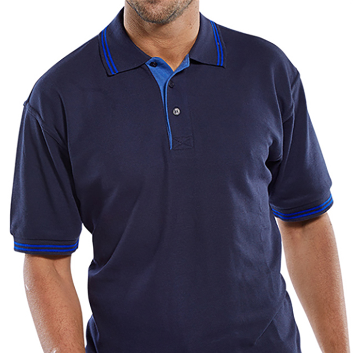 Click Workwear Polo Shirt Polycotton 200gsm Large Navy Blue Ref CLPKSNL 1-3 Days Lead Time