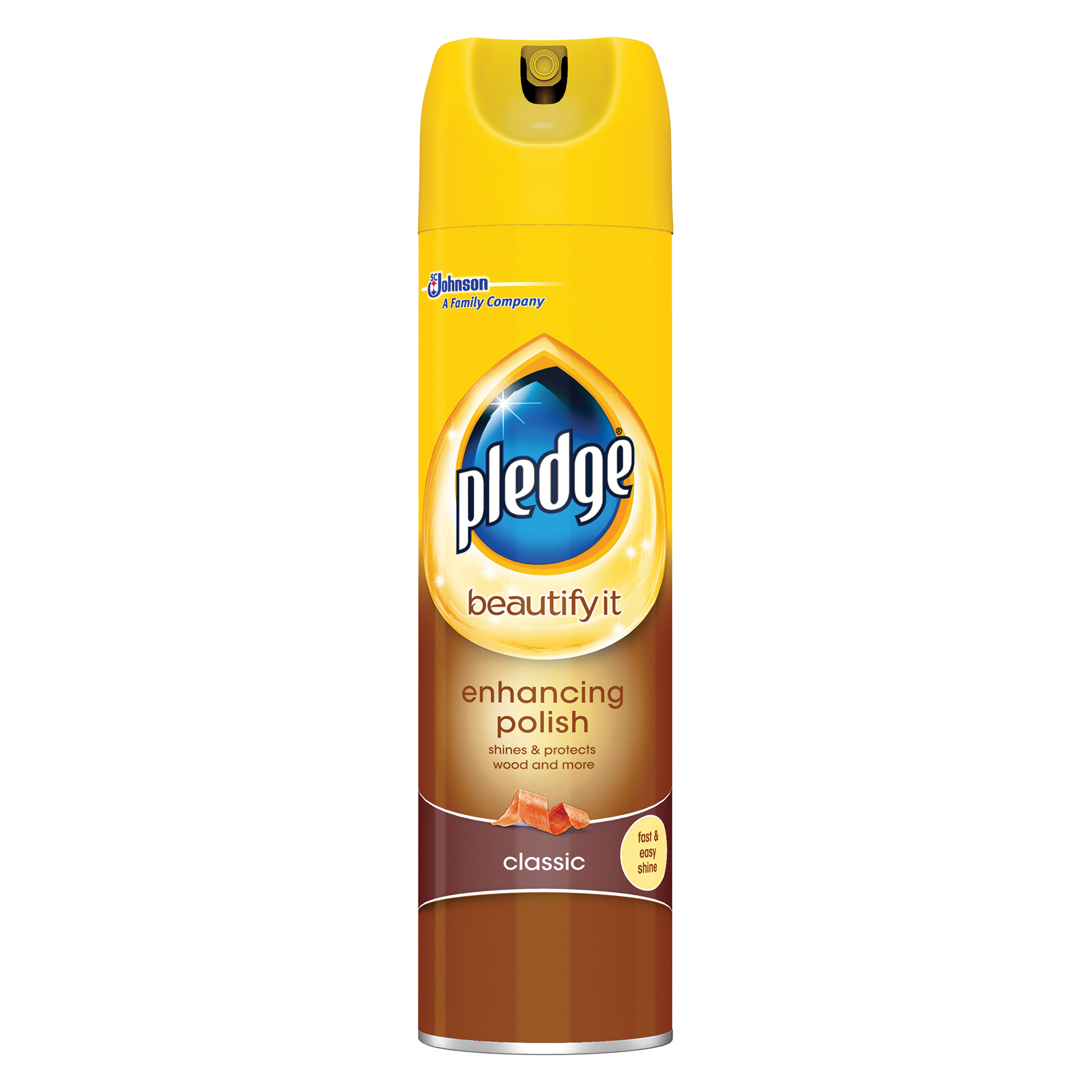 Polish Pledge Wood 5 in 1 Classic Furniture Polish Aerosol Spray 250ml Ref 97974