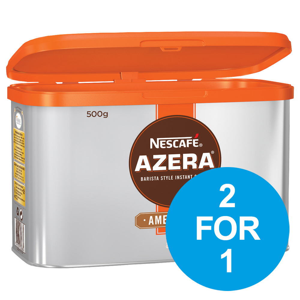 Nescafe Azera Barista Style Instant Coffee Americano 500g Ref 12284221 [2 For 1] Nov 2018