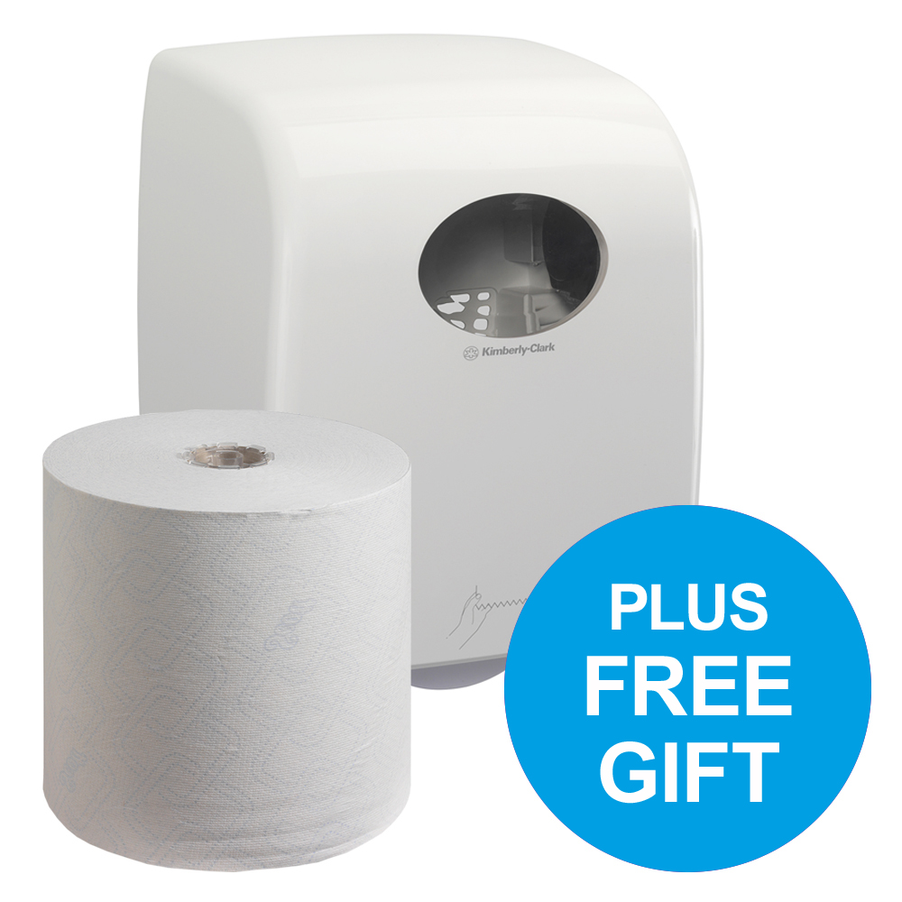 SCOTT 6620 Control Hand Towel Roll 250m 1-Ply White Ref 6620 [Pack 6] [FREE Dispenser] Jul-Dec 2018