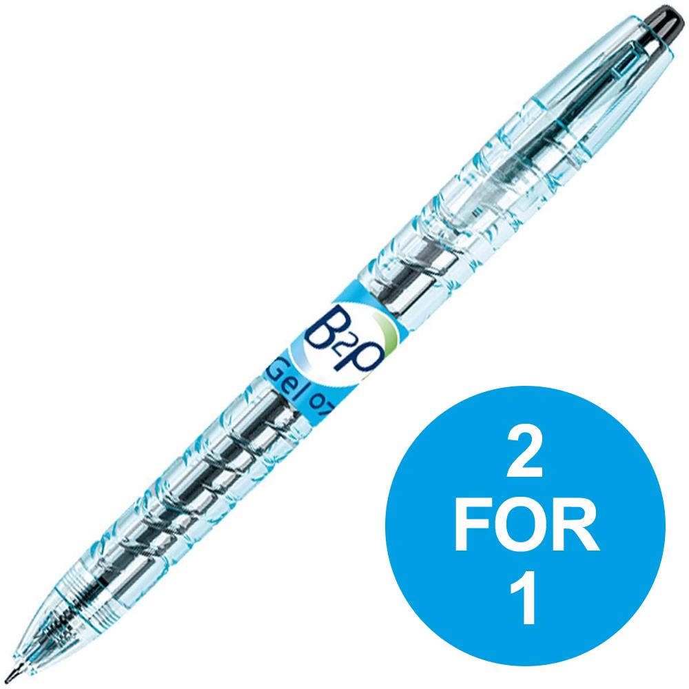 Pilot Begreen B2P Rollerball Pen Retractable 0.39mm Black Ref 054101001 Pack 10 2 for 1 Oct-Dec 2018