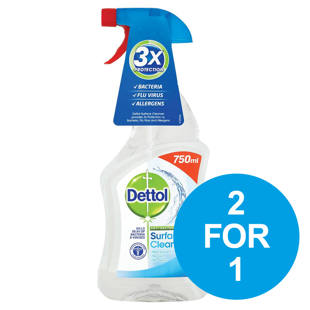 Dettol Surface Cleanser Spray 750ml Ref 14781 [2 for 1] Oct-Dec 2018