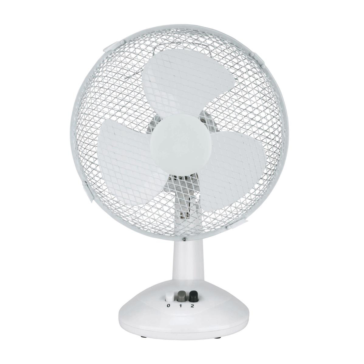 Desk Fans 5 Star Facilities Desk Fan 9 Inch 90deg Oscillating with Tilt & Lock 2-Speed H320mm w/Cable 1.25m White