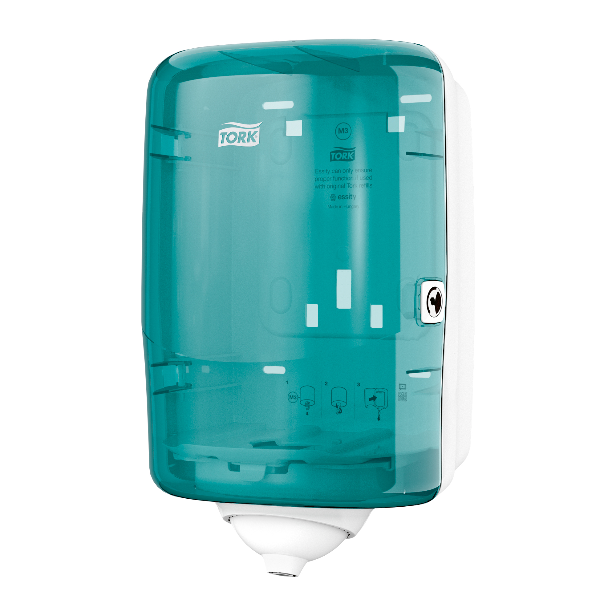 Hand Towels & Dispensers Tork Reflex Single Sheet Mini Centrefeed Dispenser W191xD180xH321mm Plastic Blue Ref 473167