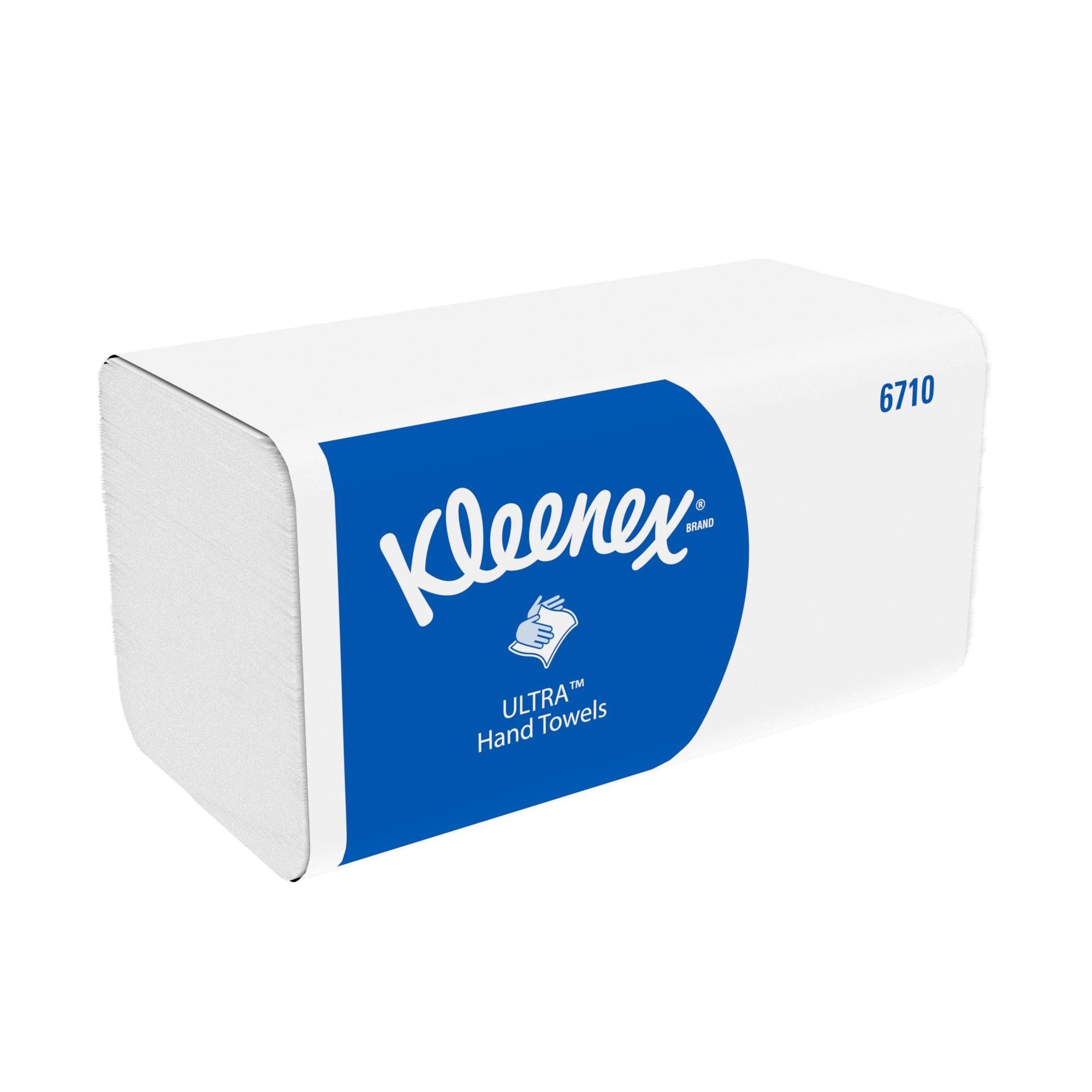 Kleenex Ultra Hand Towels 3-ply 215x315mm 96 Towels per Sleeve White Ref 6710 [Pack Sleeve 15]