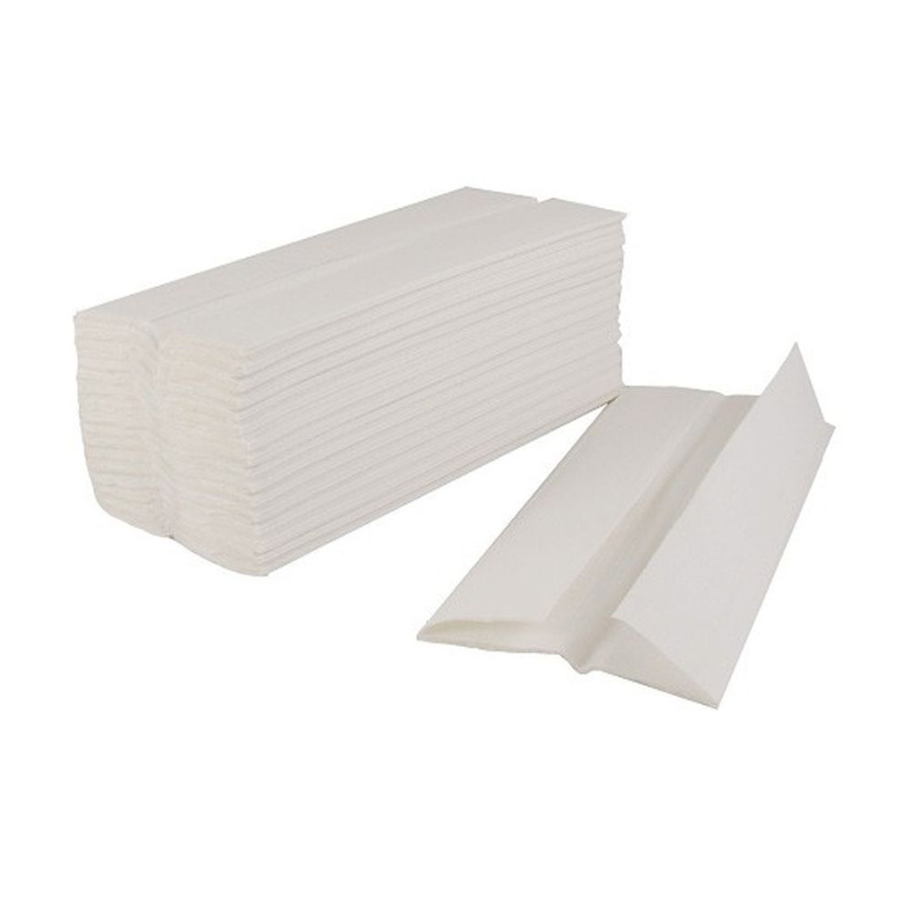 Cleaning cloths or wipes Flushable Hand Towel C-Fold 2-Ply 100 Towels Per Sleeve White Ref 1104015 [Pack 24]