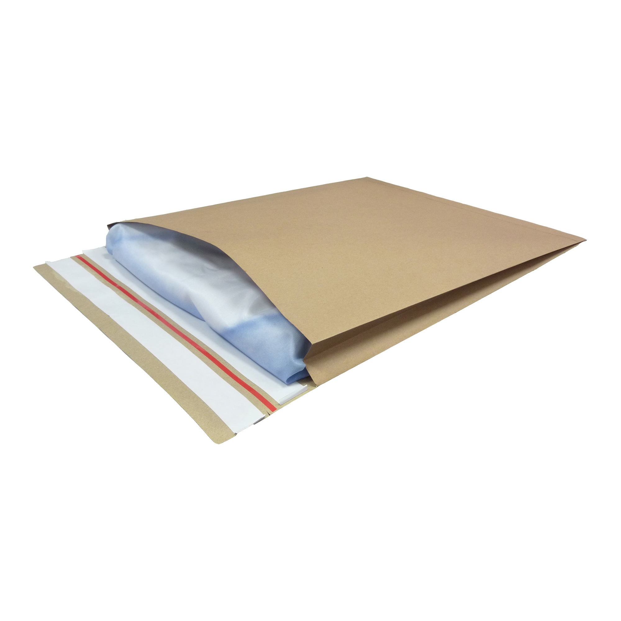 Standard envelopes Kraft Mailer Eco V Bottom & Side Gusset Double P&S 400x500x50mm +100 flap Manilla Ref RBL10533 Pack 50