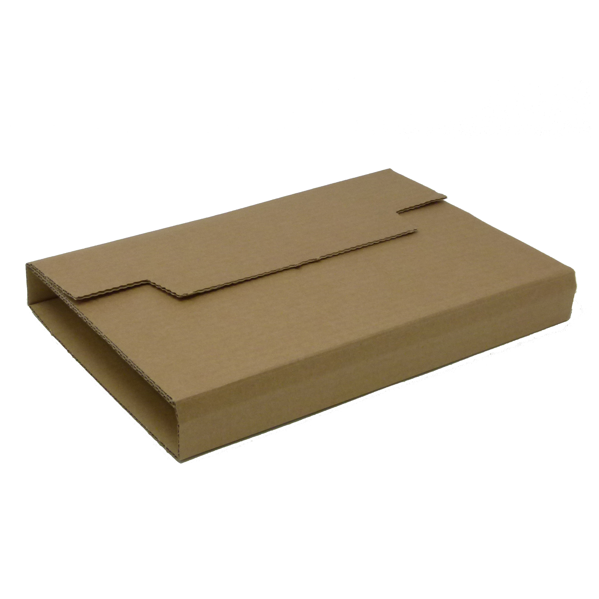Mailing boxes Rigid Corrugated Postal Wrapper Medium 290x230x50mm Manilla Ref RBL10536 Pack 25