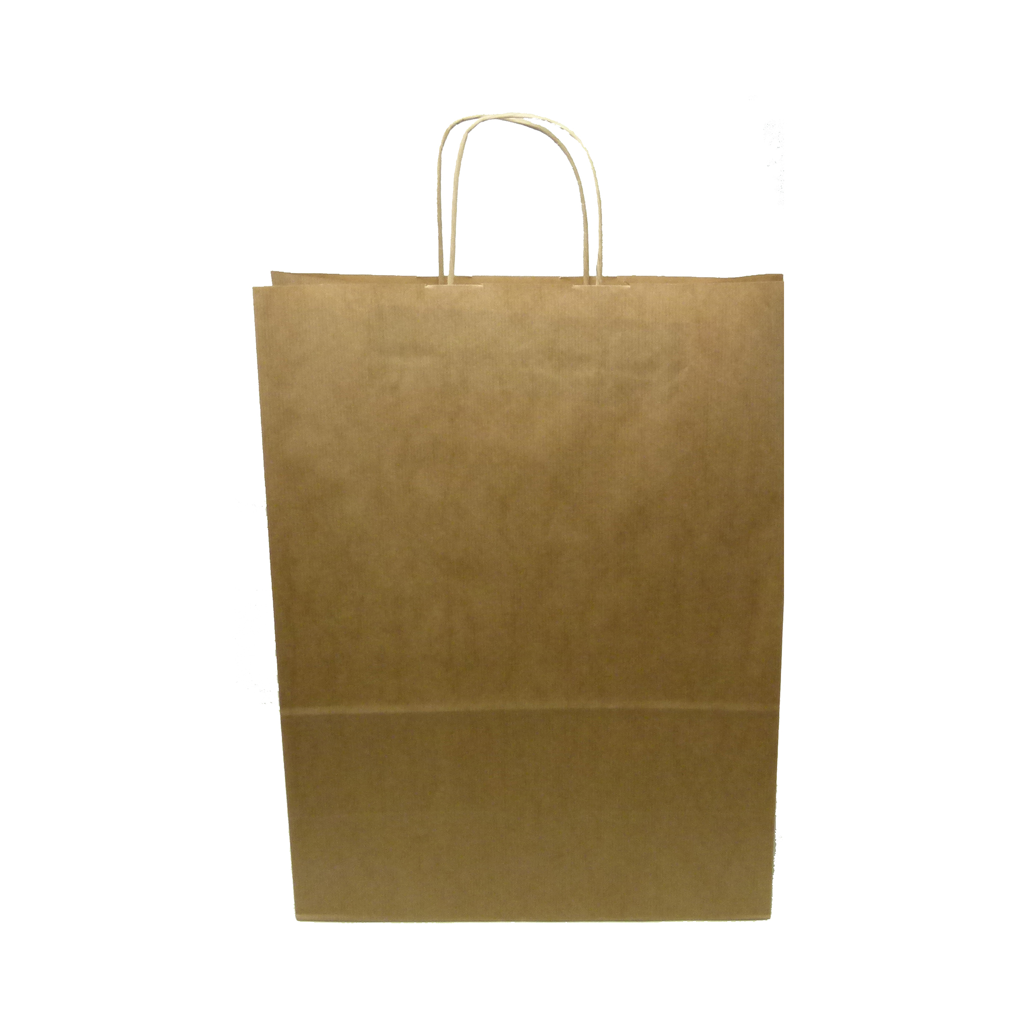 Canvas bags Kraft Paper Carrier Bag Twisted Handles Large 320x420x150mm 100g Natural Brown Ref 12933 [Pack 100]