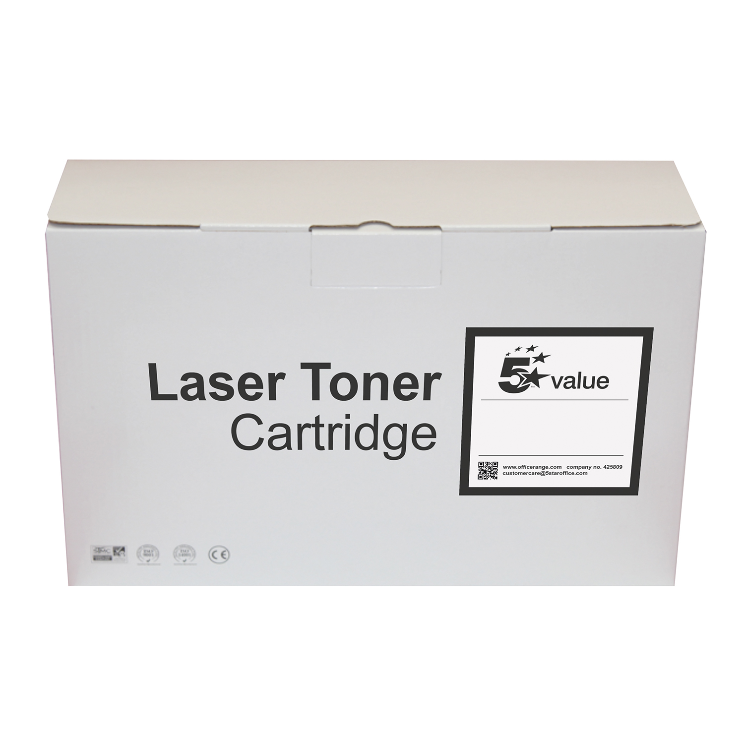 5 Star Value Remanufactured Laser Toner Cartridge 12500pp Black HP No. 55X CE255X Alternative