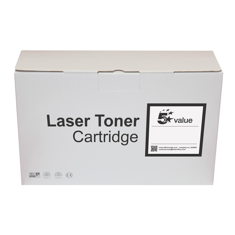 5 Star Value Remanufactured Laser Toner Cartridge 3500pp Black [HP No. 304A CC530A Alternative]