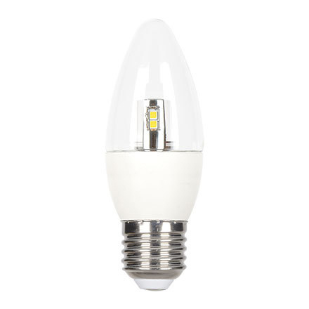 GE 6W E27 Candle LED Bulb Dimmable 470lm EEC-Aplus 230V ExtWarmWhite Ref84547 Up to 10 Day Leadtime