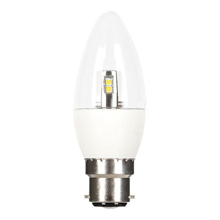GE 6W B22 Candle LED Bulb Dimmable 470lm EEC-Aplus 230V ExtWarmWhite Ref84551 Up to 10 Day Leadtime