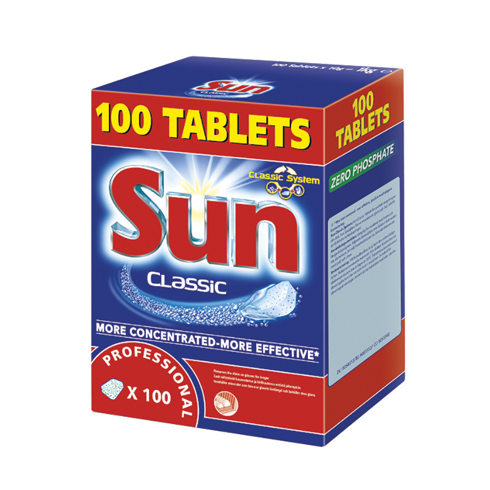 Sun Dishwasher Tablets Professional Classic Ref 1002137 Box 100