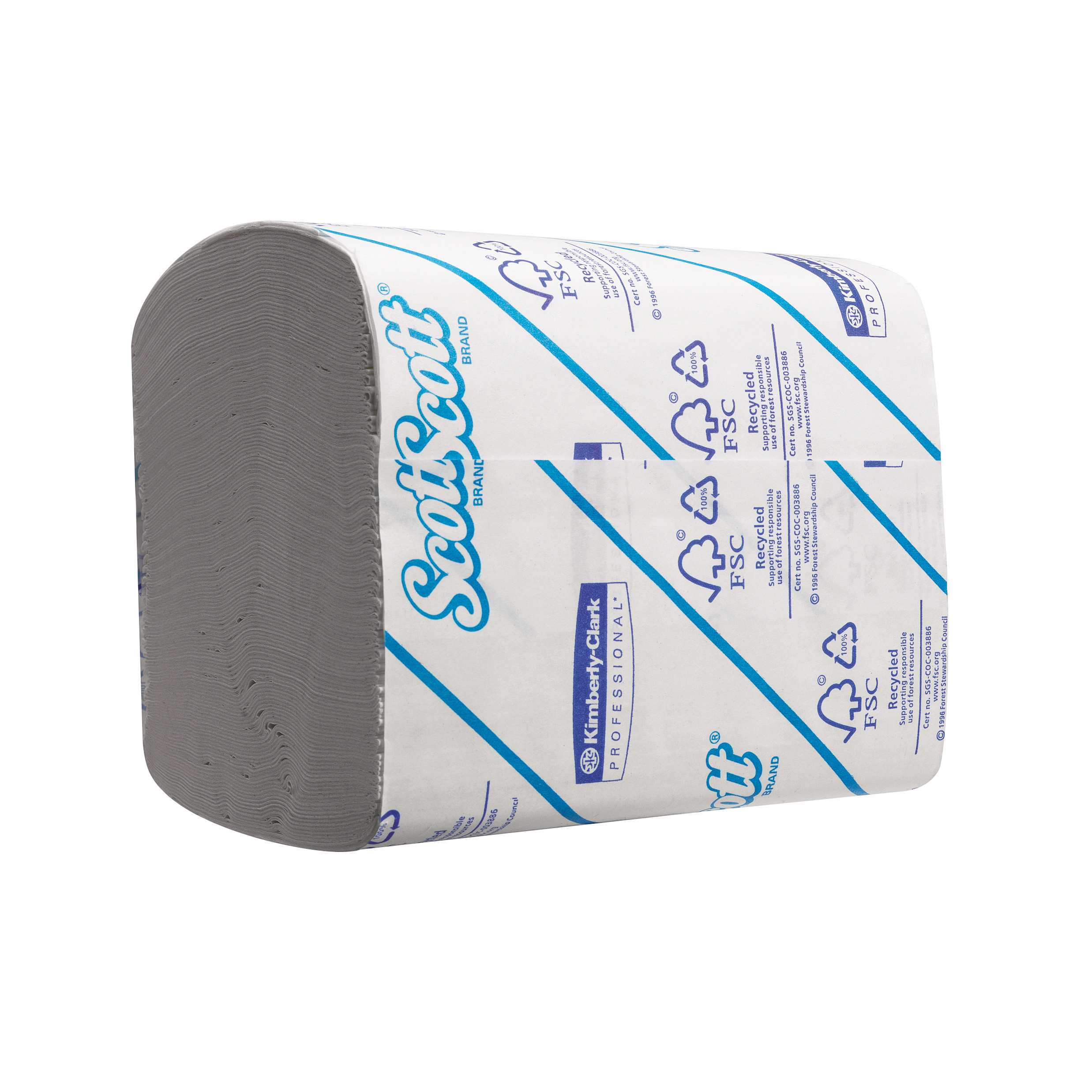 Scott 36 Toilet Tissue Bulk Pack Folded 300 Sheets per Sleeve 2-ply White Ref 8577 [Pack 36]