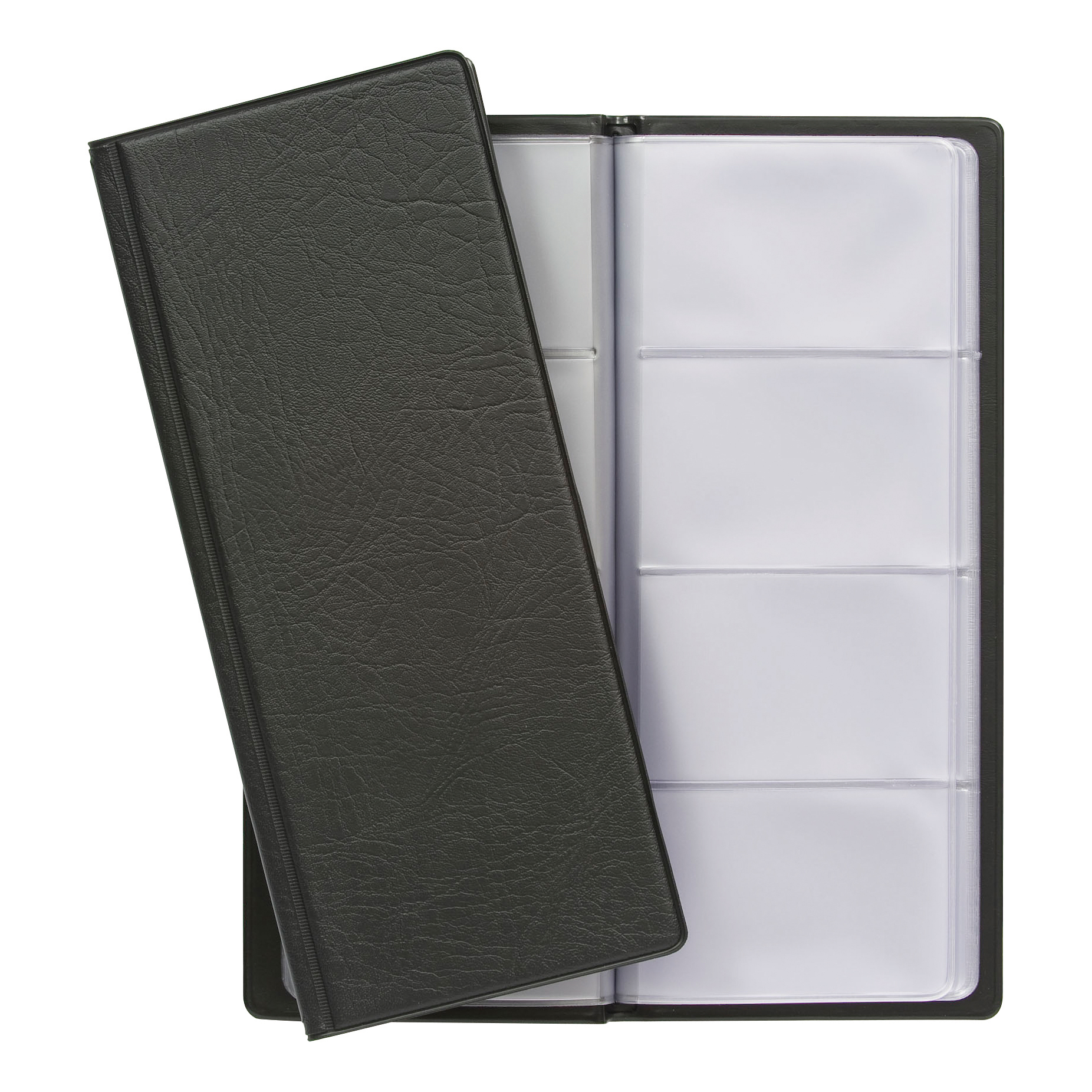 Binders 5 Star Office Classic Business Card Book PVC 64 Pockets for 128 Cards 278x120mm Black