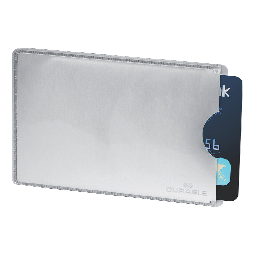 Image for Durable Card Sleeve for Payment & ID Cards RFID Secure 13.56 MHz Ref 890023 [Pack 10]