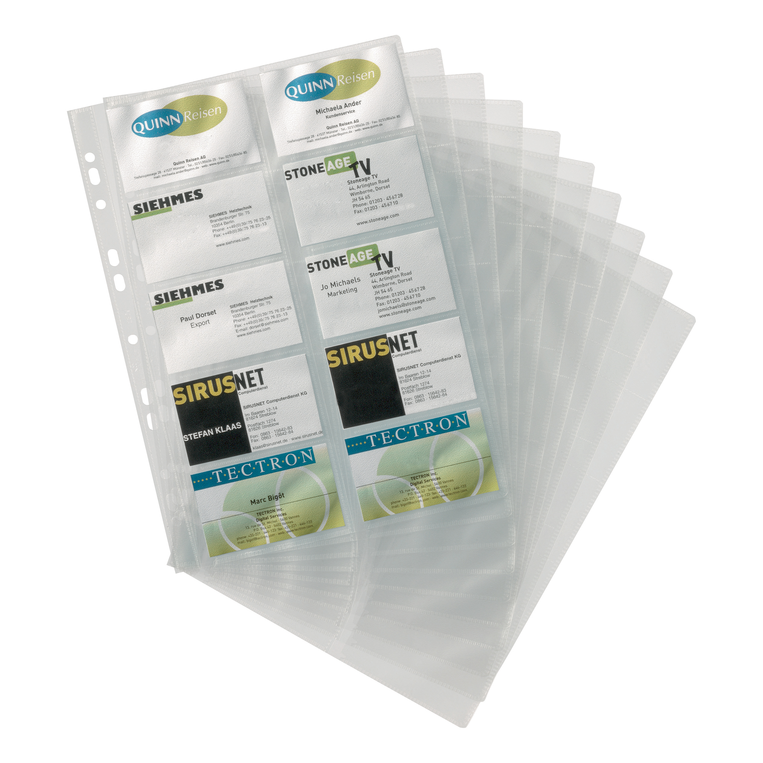 Image for Durable Visifix Refill Set for A4 Business Card Album Capacity 200 57x90mm Cards Ref 2388/36