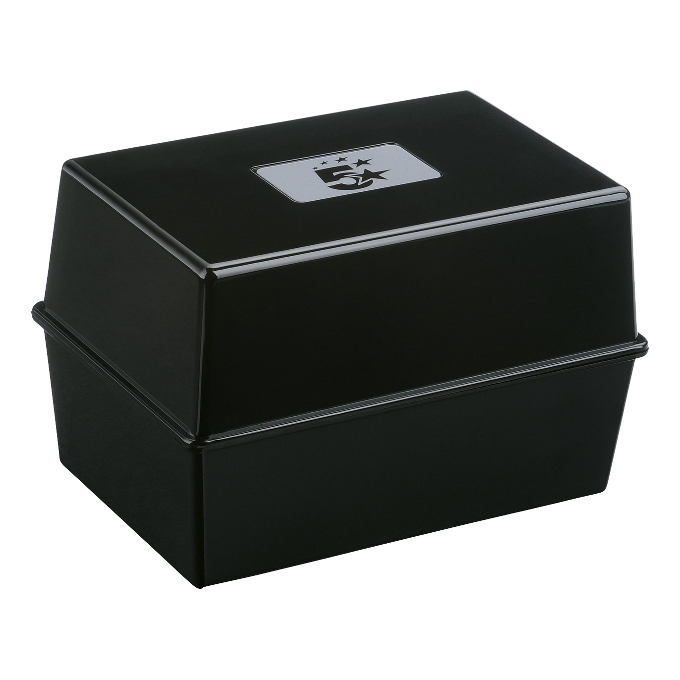 Image for 5 Star Office Card Index Box Capacity 250 Cards 8x5in 203x127mm Black