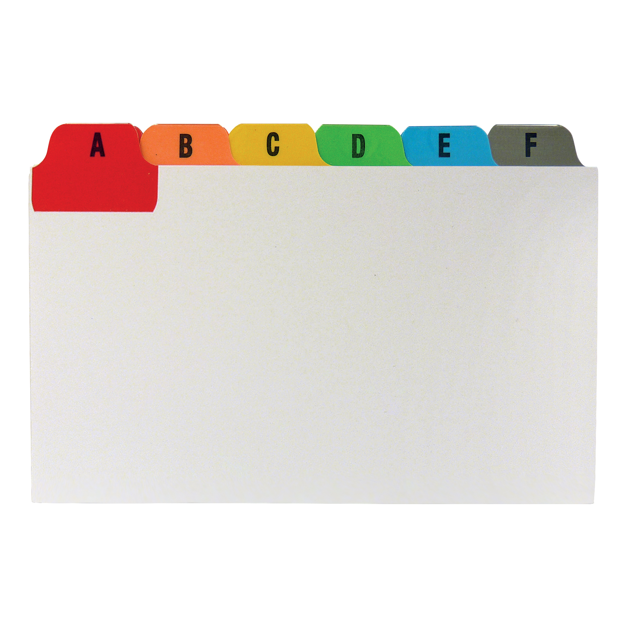 Guide Cards 5 Star Office Guide Card Set A-Z Reinforced 5x3in 127x76mm White with Tabs Multicoloured