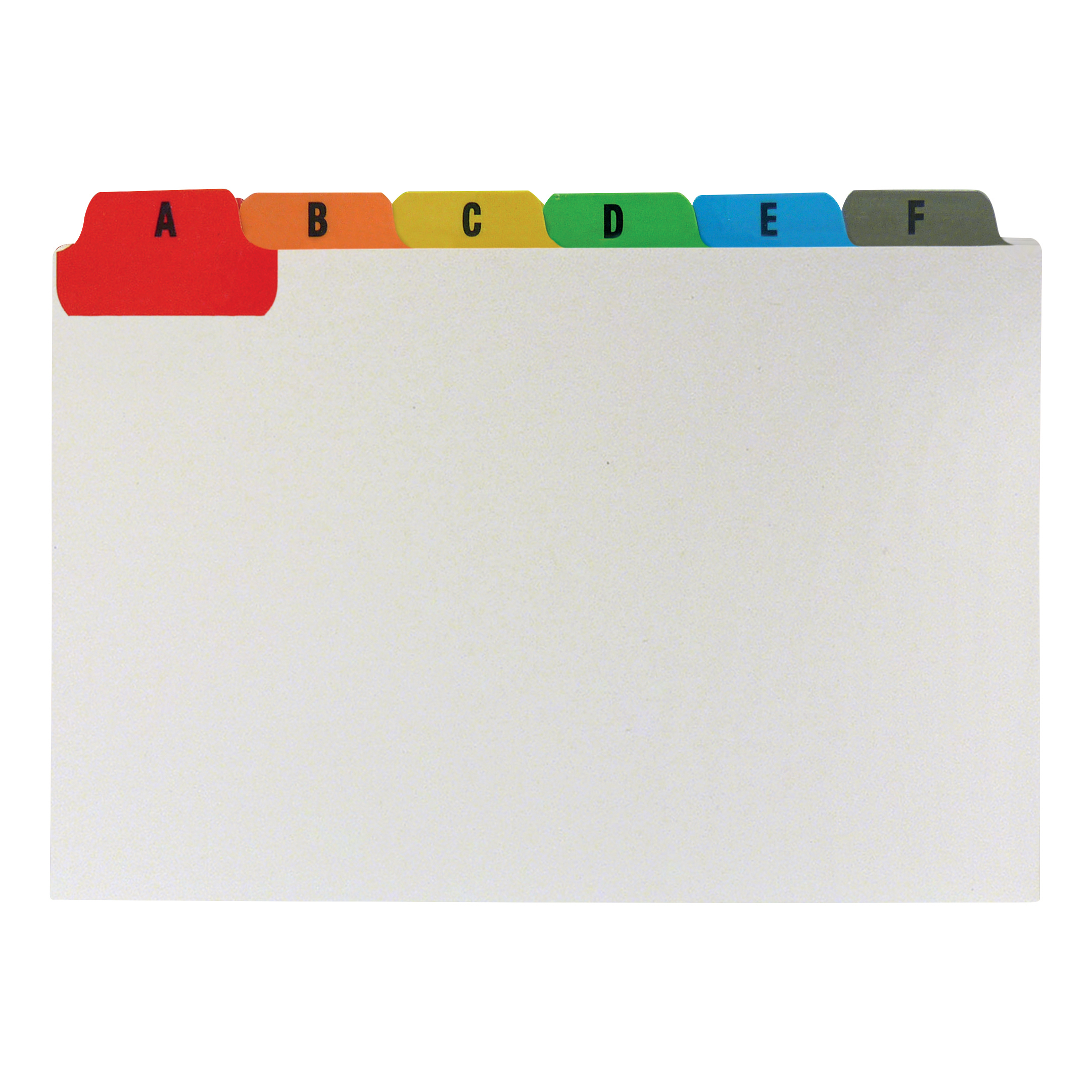 Guide Cards 5 Star Office Guide Card Set A-Z Reinforced 6x4in 152x102mm White with Tabs Multicoloured