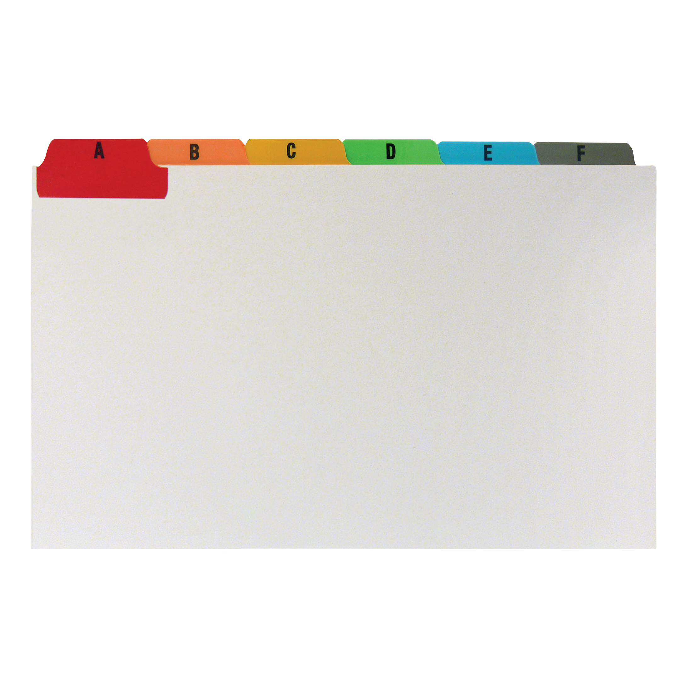 Guide Cards 5 Star Office Guide Card Set A-Z Reinforced 8x5in 203x127mm White with Tabs Multicoloured