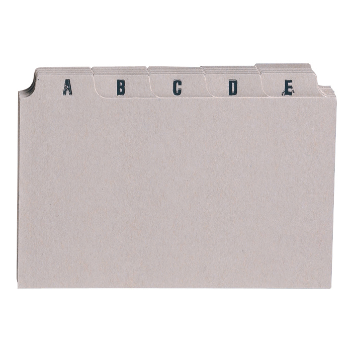 Guide Cards 5 Star Office Guide Card Set A-Z 6x4in 25 Cards 152x102mm Buff